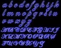Neonglühenschrifttyp Stockbild