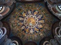 neoniano洗礼池的圆屋顶在拉韦纳 库存图片