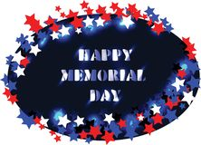 Neonkaart Memorial Day stock illustratie