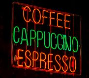 Neonkaffeezeichen Lizenzfreies Stockfoto