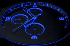 Neonklockaframsida Arkivbild