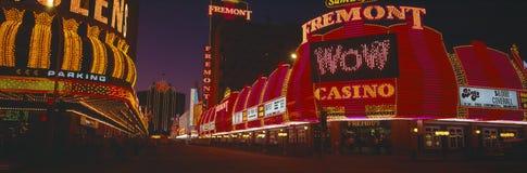 Neonlampor på Las Vegas Arkivfoton