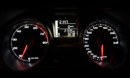 Neonlicht-Autotachometer Lizenzfreies Stockbild