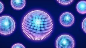 Neonlichtdeeltjes, Naadloos Patroonontwerp vector illustratie