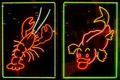 Neonlichten Royalty-vrije Stock Afbeeldingen