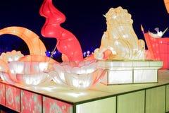 Neonlichten met verschillende vormen Stock Foto's