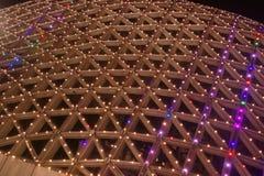 Neonlichten met verschillende vormen Stock Fotografie