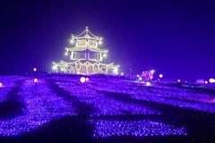 Neonlichten met verschillende vormen Royalty-vrije Stock Fotografie