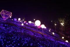 Neonlichten met verschillende vormen Stock Foto