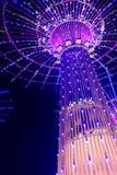 Neonlichten met verschillende vormen Stock Afbeelding