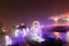 Neonlichten met verschillende vormen Royalty-vrije Stock Afbeeldingen