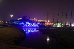 Neonlichten met verschillende vormen Royalty-vrije Stock Foto's