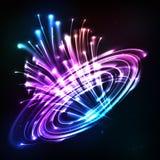 Neonlichten vector explodeert kosmisch vector illustratie