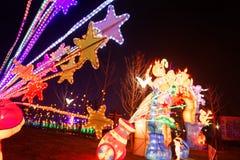 Neonlichter mit unterschiedlichem der Formen-D Laternenfestival zuerst in Nanchang Lizenzfreies Stockfoto