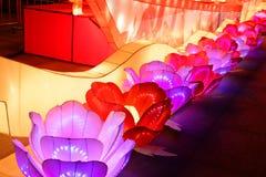 Neonlichter mit verschiedenen Formen Lizenzfreies Stockbild