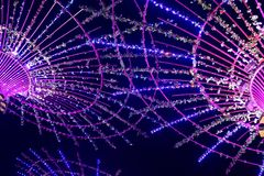 Neonlichter mit verschiedenen Formen Stockfoto