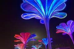 Neonlichter mit verschiedenen Formen Stockbilder