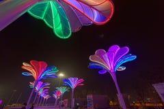 Neonlichter mit verschiedenen Formen Lizenzfreie Stockfotos
