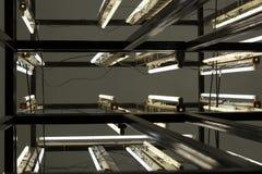 Neonlichtinstallation stockbilder