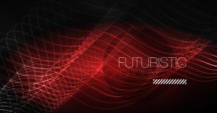 Neonlinjer vinkar bakgrund Abstrakt sammansättning stock illustrationer