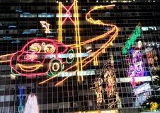 Neonljusen fotografering för bildbyråer
