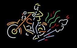 Neonmotorradzeichen lizenzfreie stockfotos