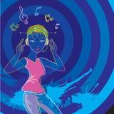 Neonmusikart Stockbild