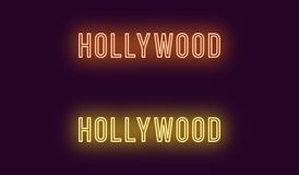 Neonname von Hollywood-Bezirk in Los Angeles vektor abbildung