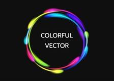 Neonowa bitcoin ikona odizolowywająca na czarnym tle Obraz Stock