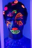 Neonowa ciało sztuka Obrazy Royalty Free