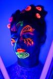 Neonowa ciało sztuka Obraz Royalty Free