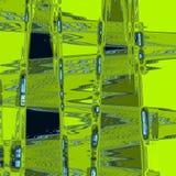 Neonowa cyraneczka i zielony kruszcowy jarmarczny abstrakt paskujący tło z trójbokami i zygzag Fotografia Royalty Free