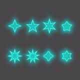 Neonowa gwiazda - Wektorowa ikona Obrazy Royalty Free