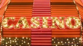 Neonowa kasynowa markiza Zdjęcia Royalty Free