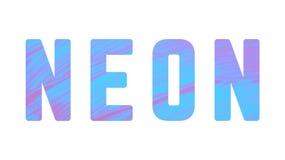Neonowa słowo farby tekstura Zdjęcia Royalty Free