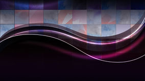 Neonowe fala na tle kwadraty ilustracji