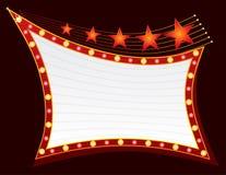 neonowe gwiazdy Zdjęcie Royalty Free
