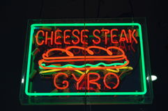Neonowe kanapki Obrazy Stock