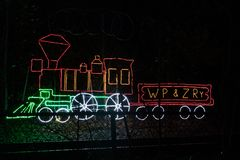 Neonowego światła pociąg fotografia royalty free