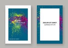Neonowego wybuch farby splatter pokrywy ramy artystyczny projekt dekoruje ilustracji