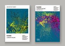 Neonowego wybuch farby splatter pokrywy ramy artystyczny projekt dekoruje royalty ilustracja