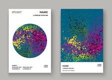 Neonowego wybuch farby splatter pokrywy ramy artystyczny projekt dekoruje ilustracja wektor