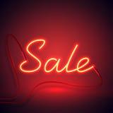 Neonowego znaka sprzedaż czerwona i pomarańcze color-01 Zdjęcie Royalty Free