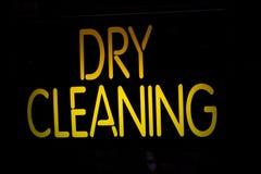 Neonowego znaka Suchy Cleaning Zdjęcie Stock