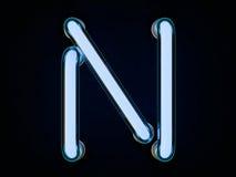 Neonowej tubki list na czarnym tle 3d Obrazy Royalty Free