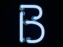 Neonowej tubki list na czarnym tle 3d Zdjęcie Stock