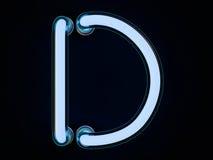 Neonowej tubki list na czarnym tle 3d Obrazy Stock