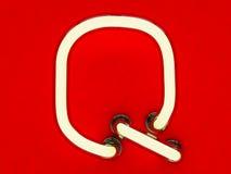 Neonowej tubki list na czerwonym tle Obraz Royalty Free