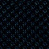 Neonowi błękitni sześciokąty Obrazy Stock