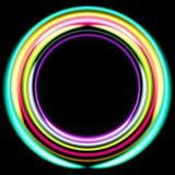 Neonowi barwioni pierścionki retro tło dyskoteka ilustracja wektor